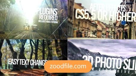 پروژه آماده افترافکت عکس3D-Photo-Slide