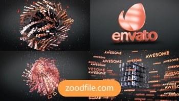 پروژه آماده افترافکت لوگو سه بعدی 3D-Text