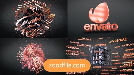 پروژه افترافکت لوگو 3D Text
