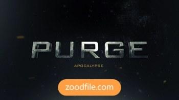 پروژه آماده افترافکت تریلر Purge-Trailer