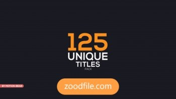 پروژه آماده افترافکتتایتل Unique-Titles