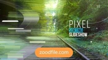 پروژه آماده افترافکت اسلایدشو Pixel