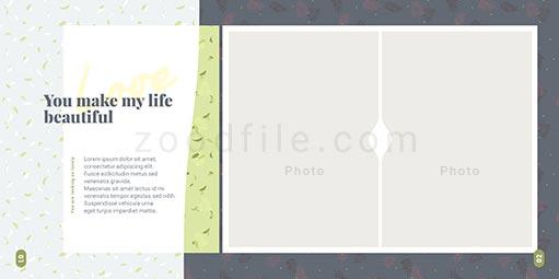 لایه باز آلبوم عکس عروسی Bundle طرح 1