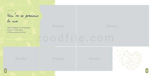 لایه باز آلبوم عکس عروسی Bundle طرح 4