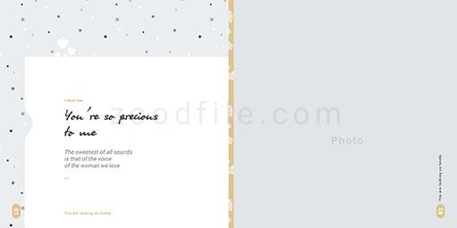 لایه باز آلبوم عکس عروسی Bundle طرح 5