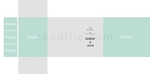 لایه باز آلبوم عکس عروسی Minimalist طرح 1