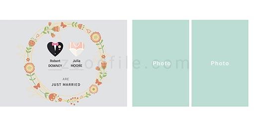 لایه باز آلبوم عکس عروسی Minimalist طرح 2