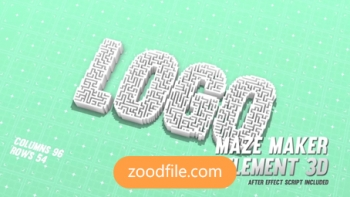 پروژه آماده افترافکت لوگو Maze-Maker