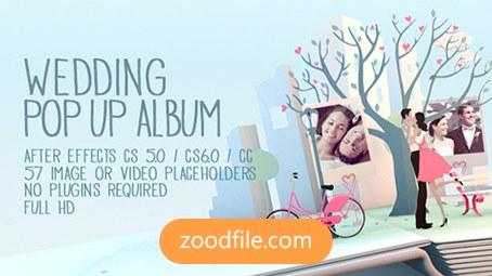پروژه افترافکت عروسی Pop Up Album