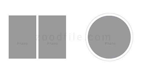 لایه باز آلبوم عکس عروسی Circle طرح 1