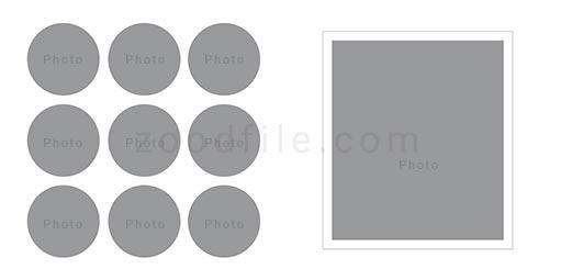 لایه باز آلبوم عکس عروسی Circle طرح 2