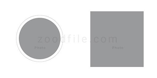 لایه باز آلبوم عکس عروسی Circle طرح 6