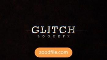 پروژه آماده افترافکت لوگو Glitch