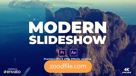 پروژه آماده افترافکت تیزر تبلیغاتی Modern-Slides