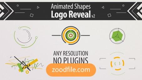 پروژه آماده افترافکت لوگو Shape-Animation