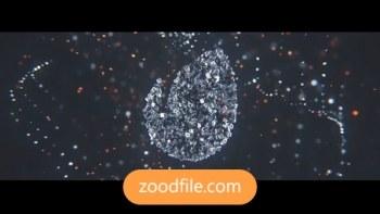 پروژه آماده افترافکت لوگو Metalic-Particles