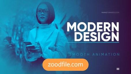 پروژه آماده افترافکت تیزر تبلیغاتی Modern-presentation
