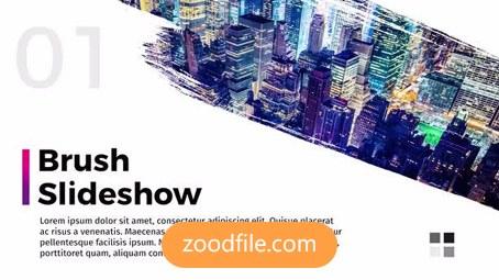 پروژه آماده پریمیر تیزر تبلیغاتی Brush-Slideshow