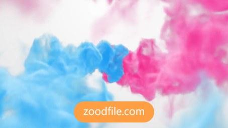 پروژه آماده پریمیر لوگو Colorful-Smoke