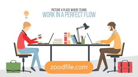 پروژه آماده افترافکت موشن گرافیک Flat-Corporate