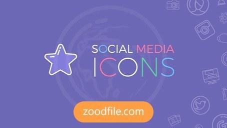 پروژه آماده افترافکت موشن گرافیک Social-Media-Icons