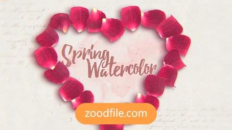 پروژه آماده افترافکت عاشقانه Spring-Watercolor
