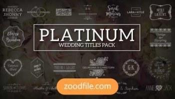 پروژه آماده افترافکتتایتل عروسی Platinum