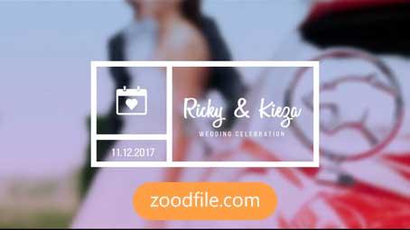 پروژه آماده افترافکت عروسی Minimal-Wedding-Titles