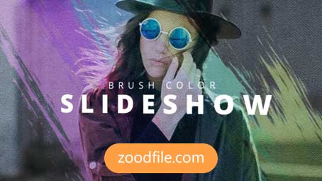 پروژه آماده پریمیر اسلایدشو Brush-Colorful
