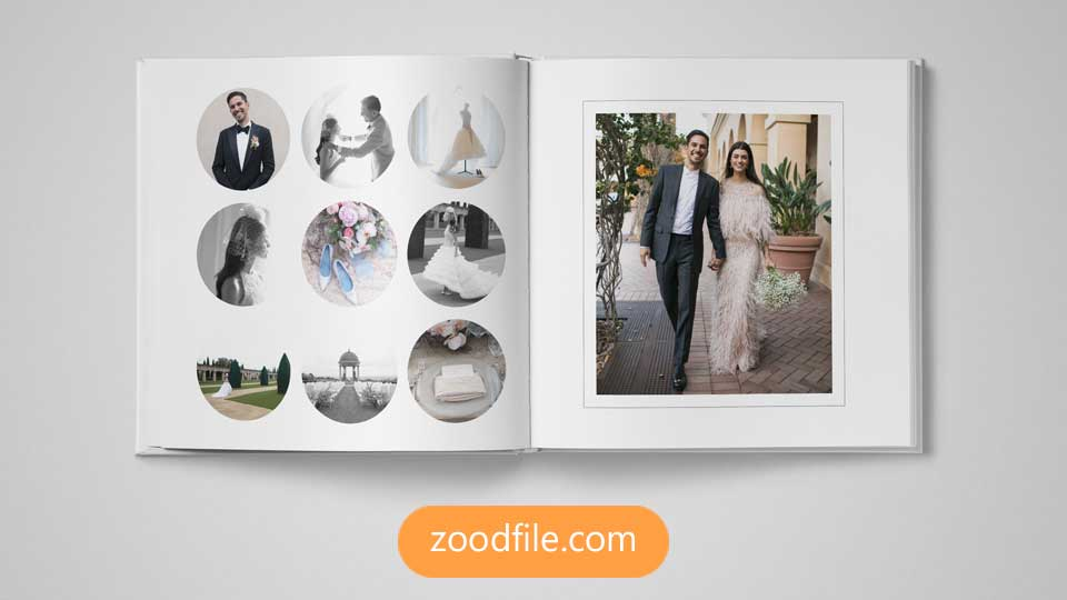 قالب آلبوم عکس عروسی Circle