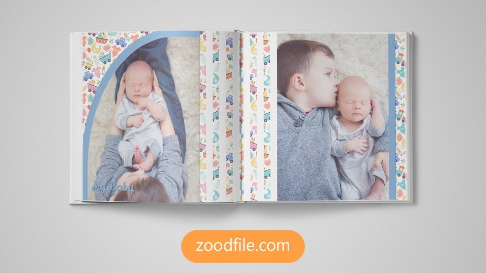 آلبوم لایه باز Baby Photo Album