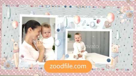 پروژه آماده افترافکت کودک Baby-Slideshow