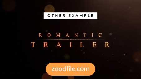 پروژه آماده افترافکت تریلر Romantic-Trailer