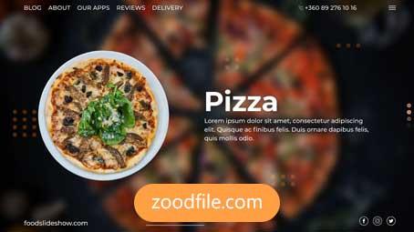 پروژه آماده افترافکت رستورانFood-Slideshow