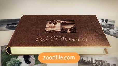 پروژه آماده افترافکت عکس Book-Of-Memories