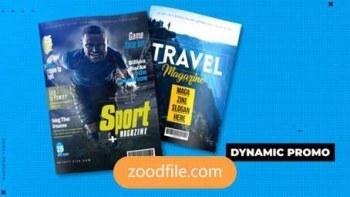 پروژه آماده افترافکت مجله Dynamic-Magazine