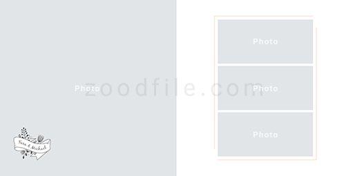 لایه باز آلبوم عکس عروسی Album-Template طرح 2