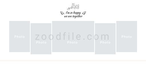 لایه باز آلبوم عکس عروسی Album-Template طرح 6