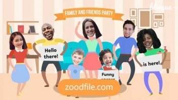 پروژه آماده افترافکت موشن گرافیک Family-Party