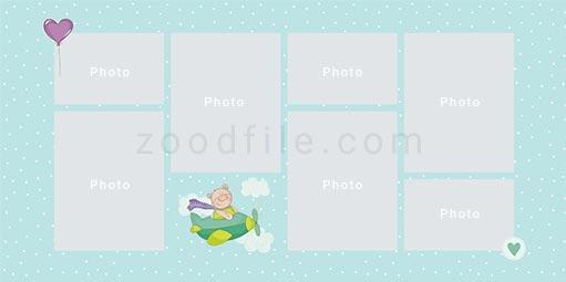 لایه باز آلبوم عکس کودک Newborn طرح 1