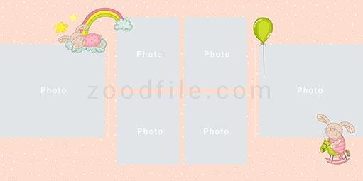 لایه باز آلبوم عکس کودک Newborn طرح 2