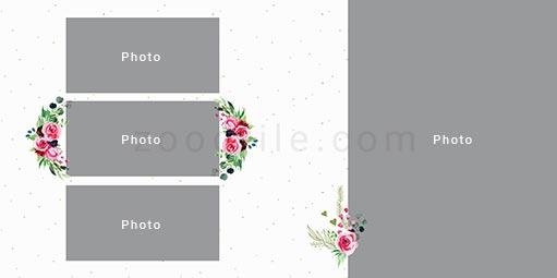 لایه باز آلبوم عکس عروسی Romantic طرح 4