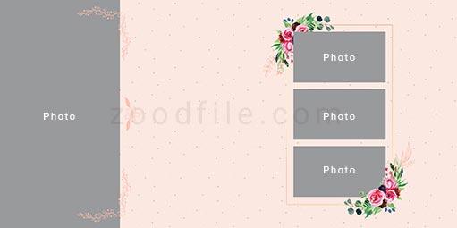 لایه باز آلبوم عکس عروسی Romantic طرح 6