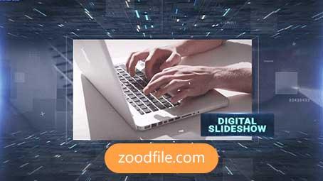 پروژه آماده افترافکت اسلایدشو Digital-Slideshow