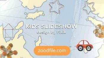 پروژه آماده افترافکت کودک Slideshow-Kids