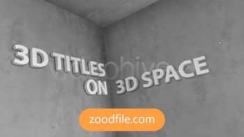 پروژه آماده افترافکت تایتل 3D-Titles
