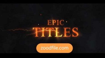 پروژه آماده افترافکت تایتل Epic-Titles