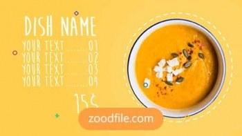 پروژه آماده پریمیر تیزر تبلیغاتی Menu-Food