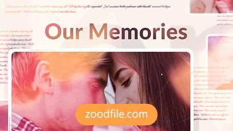 پروژه آماده افترافکت اسلایدشو We-Memories