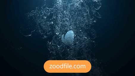 پروژه آماده افترافکت لوگو Water-Splash